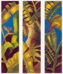 Mujer Hoja - Acrílico - Colección: Biombos