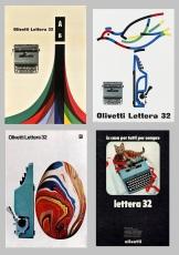 Gráficas Olivetti de Giovanni Pintori y Walter Ballmer. Archivio Grafica Italiana y Archivio Storico Olivetti.